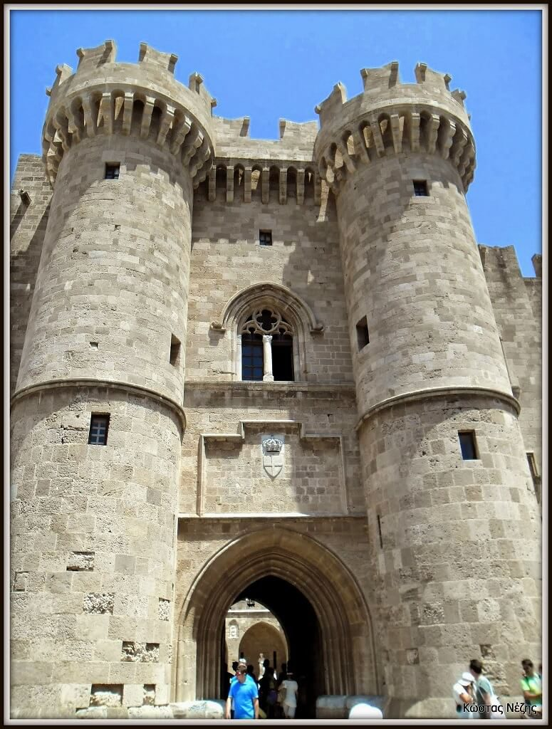 Το Παλάτι του Μεγάλου Μαγίστρου είσοδος