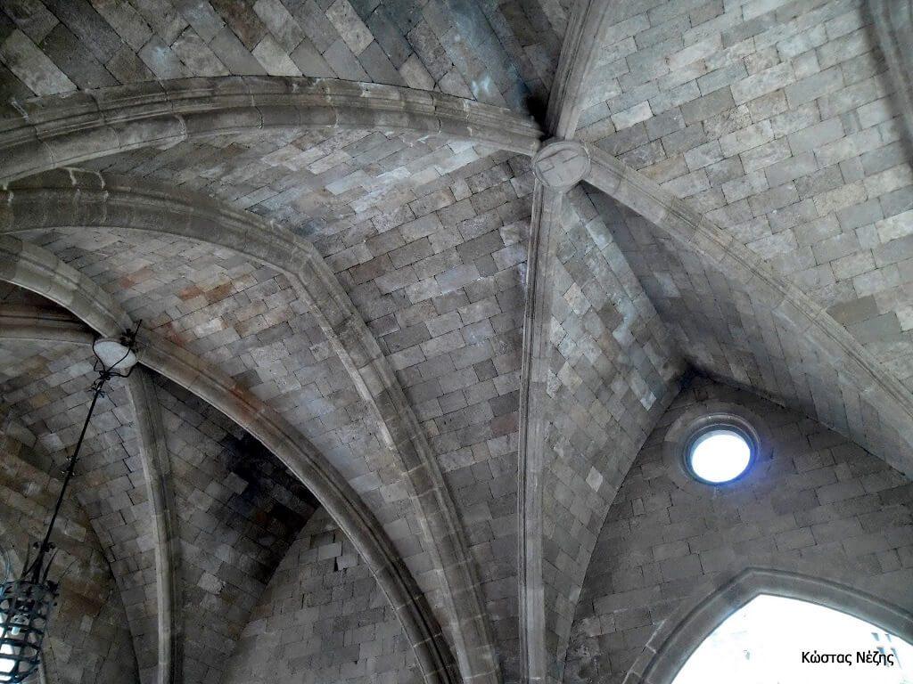 Το Παλάτι του Μεγάλου Μαγίστρου λεπτομέρεια οροφής