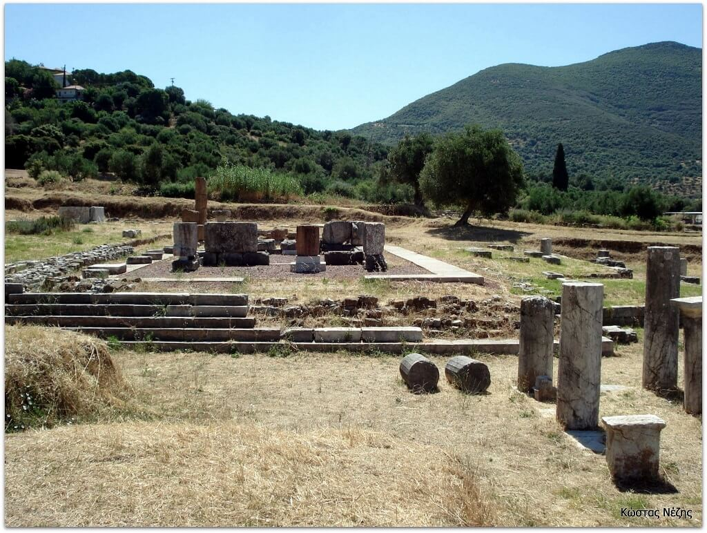 Αρχαία Μεσσήνη ναός Μεσσήνης