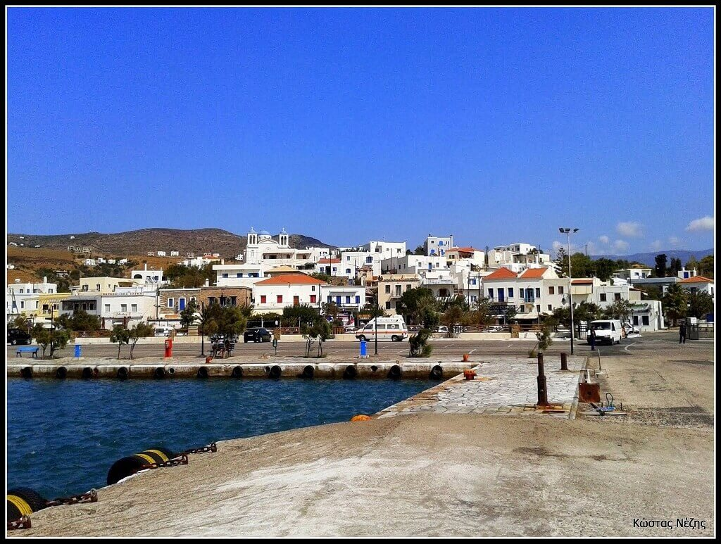 The port of Gavrio, Andros