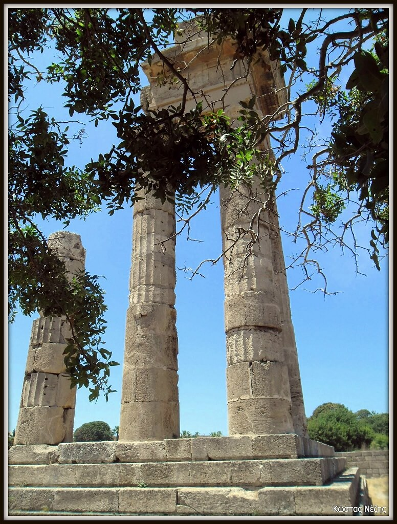 The temple of Pythian Apollo, Acropolis of Rhodes